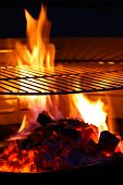 stock photo of barbecue grill  - Barbecue Grill flame BBQ - JPG