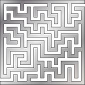 Silver maze. Vector illustration.