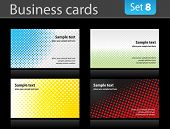 Set of business cards.