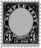 Black Old Postal Mark