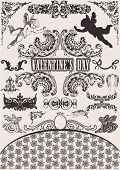 Vector set. Valentine's Design Elements. Elements For Page Decoration