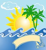 Tropical Sea Vacation Logo