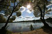 Lake And Sun.