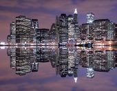 Manhattan skyline at Night Lights