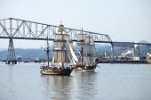 Galleons sailing on the Columbia river WA state.