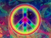 pic of peace-sign  - Computer designed highly detailed grunge abstract textured collage  - JPG