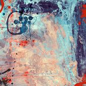 Computer designed high detailed grunge abstract textured watercolor style background - collage, with