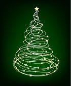 Glowing Vector Christmas tree
