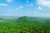View From  Mount Sigiriya  Into Mountain In The Shape Of The Female Breast