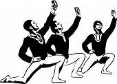 image of lap dancing  - a sketch male ballet dancer standing in pose - JPG