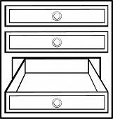 open drawer
