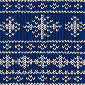 jumper pattern with snowflakes, vector illustration