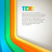 retro colorful vector banner with space for Your text