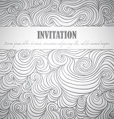 Invitation, vector drawing with space for Your text