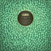 Green Leaves Invitation with space for Your text