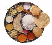 Traditional Indian Lunch Food And Meals