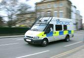 Panned Police Van