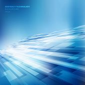 Abstract Blue Lines Overlap Layer Business Shiny Motion Perspective Background Technology Concept. V poster