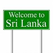 Welcome to Sri Lanka, concept road sign