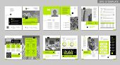 Brochure Creative Design. Multipurpose Template, Include Cover, Back And Inside Pages. Trendy Minima poster