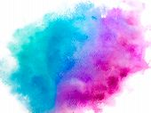 Colorful Abstract Vector Background. Soft  Blue Watercolor Stain. Watercolor Painting. Abstract Pain poster