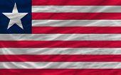 vollständige gewelltes Flagge Liberias für Hintergrund