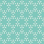 Simple Vector Floral Seamless Pattern. Subtle Geometric Texture With Small Stars, Flower Shapes, Lea poster