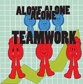 VS só trabalho em equipe