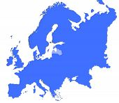 Latvia Location In Europe Map poster