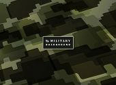 Abstract Jigsaw Military Green Color Pattern Background. Modern Decoration Of Army Defender Artwork. poster