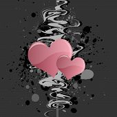 Grungy Heart Background