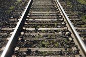 Train Tracks Closeup