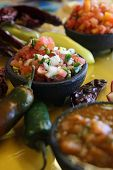 Spicy Salsas And Peppers