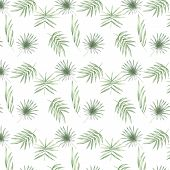 Tropical Pattern With Exotic Palm Leaves. Pattern Tropic Leafs Summer Set Isolated On White Backgrou poster