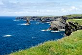 Cliffs Of Kilkee In Co. Clare, Ireland. Peninsula In West Clare, Ireland. Famous Beach And Landscape poster