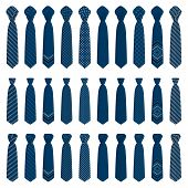Illustration On Theme Big Set Ties Different Types, Neckties Various Size. Tie Pattern Consisting Of poster
