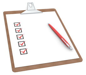 picture of x-rated  - Clipboard with Checklist X 5 and Pen - JPG