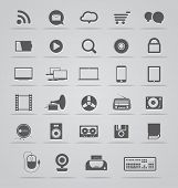 Modern Social media icons collection