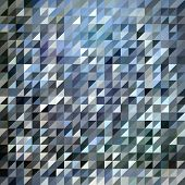 Vector triangle pattern with grey and blue colors