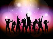 stock photo of youngster  - Party people background - JPG