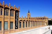 BARCELONA, SPAIN - FEBRUARY 12: Facade of CaixaForum on February 12, 2012 in Barcelona, Spain. This museum is housed in the former textile factory Casaramona, built by Puig i Cadafalch in 1911