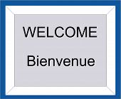 Bilingual  Welcome  Sign