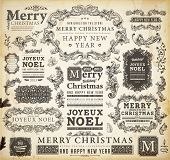 stock photo of holly  - Christmas decoration collection  - JPG