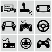 picture of controller  - Video game icons set - JPG
