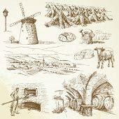 agricultura, aldea rural