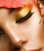 Herbst-Makeup.Professional Herbst Make-up Closeup