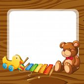 picture of idiophone  - illustration of toys and board  on a white backgound - JPG