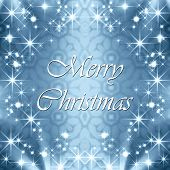 Christmas greetings with star frame