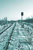 Eisenbahn-Semaphore. HDR