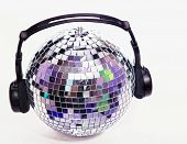 Disco ball with head phones
